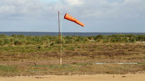 Orange Windsock, Falkland Islands stock video footage