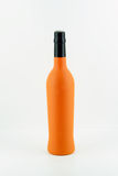 Orange wine bottle Stock Photography
