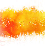 Orange winter background Stock Photos
