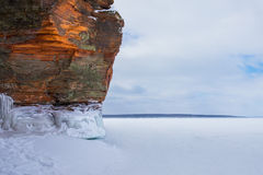 Orange Winter Cliff with Copy Space Stock Photos