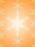 Orange winter holidays background with white snowflakes. Orange shiny winter holidays background with white snowflakes. Snowflakes pattern/texture Royalty Free Stock Photo