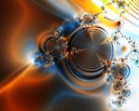 Orange wirbelt abstrakter Hintergrund Lizenzfreie Stockfotografie