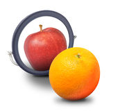 Orange Wish Identity to be Apple Stock Photography