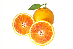 Free Orange With Two Halfs Stock Photos - 36642023