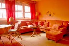 Orange Wohnzimmer Lizenzfreie Stockbilder