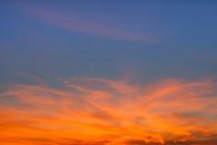 Orange Wolken Lizenzfreies Stockfoto