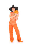 Orange woman Royalty Free Stock Photo