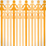 Orange woman icon background Royalty Free Stock Photo