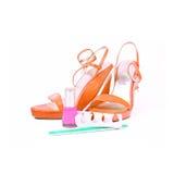 Orange woman shoes Stock Photo