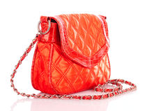 Orange women bag Stock Photography