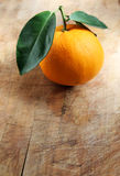 Orange on Wood Royalty Free Stock Images