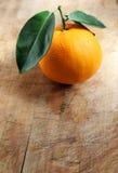 Orange on Wood Royalty Free Stock Images