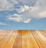 Orange wood perspective view Royalty Free Stock Photos