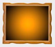 Orange wood picture frame Stock Photos