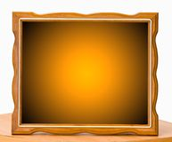 Orange wood picture frame Stock Images