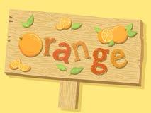 Orange Wood vektor för teckenbrädeadvertizing Royaltyfri Bild