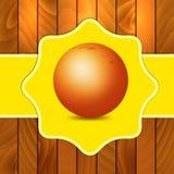 Orange on wooden background Royalty Free Stock Image
