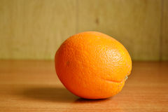Orange on wooden boards Royalty Free Stock Photography