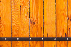 Orange wooden boards Stock Images