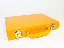 Orange wooden case Stock Images