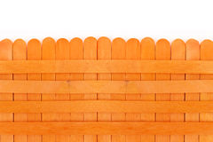 Orange wooden fence. Royalty Free Stock Image