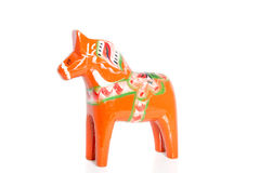 An orange wooden horse Royalty Free Stock Photography