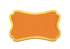 Orange wooden sign isolated Stock Photography