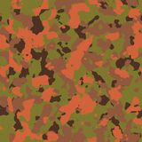 Orange woodland seamless camo. Pattern Royalty Free Stock Photos