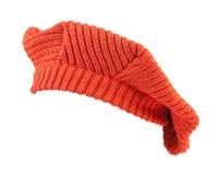 Orange wool beret. Royalty Free Stock Photo