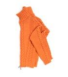 Orange wool lady jacket Stock Photo