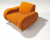 Orange wool Modern arm chair Royalty Free Stock Photos