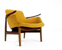 Orange wool modern chair Royalty Free Stock Photos