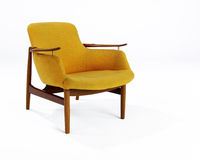 Orange Wool Modern Chair Stock Image