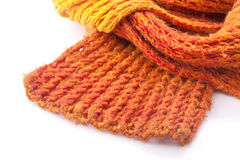 orange wool scarf Stock Photos