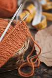 Orange woolen Stock Photo