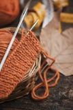 Orange woolen Royalty Free Stock Image
