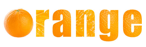 Orange word Stock Photography