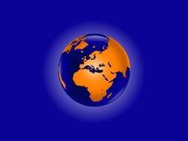 Orange World-Kugel Stockbild