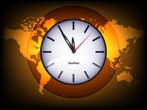 Orange world map Stock Images