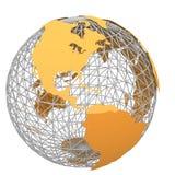 Orange world map 2 Stock Image