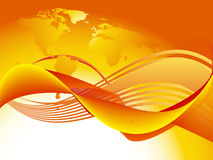Orange world wave Stock Photography