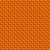 Orange woven cloth fabric seamless pattern texture background Royalty Free Stock Photography
