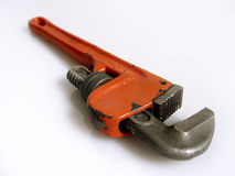 Orange Wrench Royalty Free Stock Photography