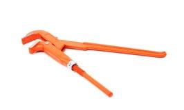 Orange wrench isolated Royalty Free Stock Image