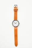 Orange wristwatches. Isolated on white background Royalty Free Stock Photo
