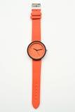 Orange wristwatches. Isolated on white background Stock Images
