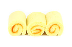 Orange yam roll. With white background Royalty Free Stock Photo