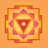 Orange Yantra Royalty Free Stock Images