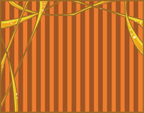 Orange yellow abstract. With striped background Stock Illustration