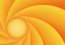 Orange and yellow abstract diaphragm Stock Image